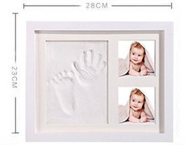 Baby Handprint and Footprint Photo Frame Keepsake Set for Newborn Girls and Boys, Memorable Keepsake Box Decorations, Unique Baby Shower Gifts
