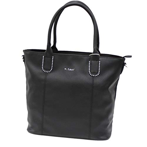 Naj Oleari Sac à main en similicuir pour femme Shopping Jazz Line 61378 Noir