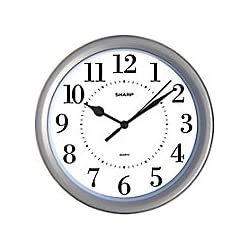 MZ Berger MZB SPC957 Sharp 8 1/4 Round Wall Clock; Silver