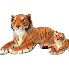 - U.S. Toy One Jumbo Realistic Plush Stuffed Animal Tiger in Laying Position