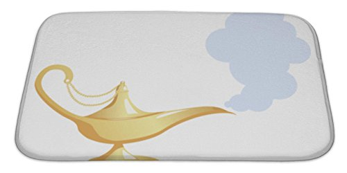 Gear New Bath Mat For Bathroom, Memory Foam Non Slip, Magic Lamp, 34x21, (Genie Lamps For Sale)