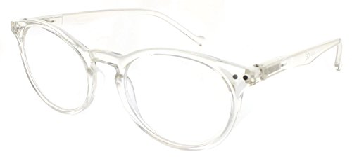 Reading Glasses - Comfortable Lightweight Round Readers with Spring Hinge for Men and - Glass Frames Lightweight