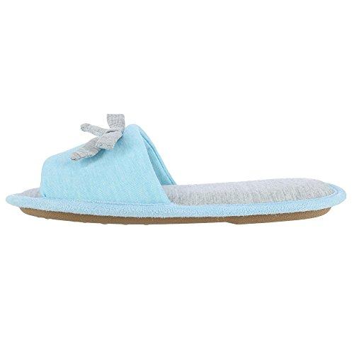 des Chaussures Femmes Hanes de Les Chambray pour Blau avec Heather Bow Glissières Eqnwng1f