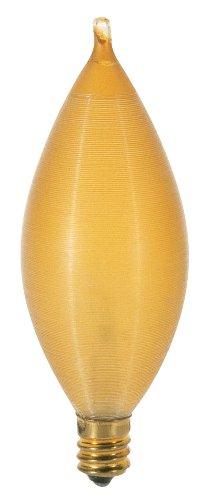 (Satco S2706 120V Candelabra Base 25-Watt C11 Light Bulb, Amber Spun)