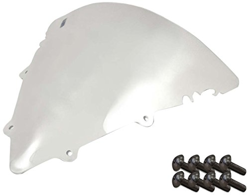 Sportbike Windscreens ADYW-302C Clear Windscreen (Yamaha R6 S-Model (03-09) With Silver screw kit), 2 Pack