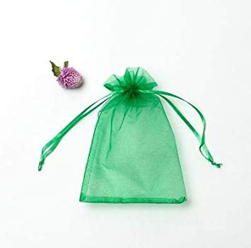VandaSugar 100PCS 4x6 Pink Drawstring Organza Jewelry Favor Pouches Wedding Party Festival Gift Bags Candy Bags 10x15cm