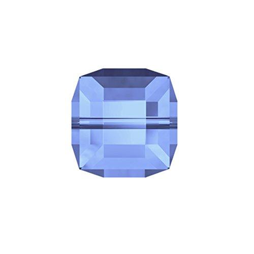 Swarovski Crystal Cube Bead, Light Sapphire, 6 MM, Model 5601, Lot of 24 Pieces