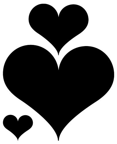 I De Pared Love De Lámina De Pizarra 11178 Corazones Negro Set 3