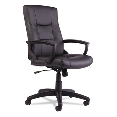 Alera YR4119 Alera YR Series Executive High-Back Swivel/Tilt Leather Chair, Black by Alera