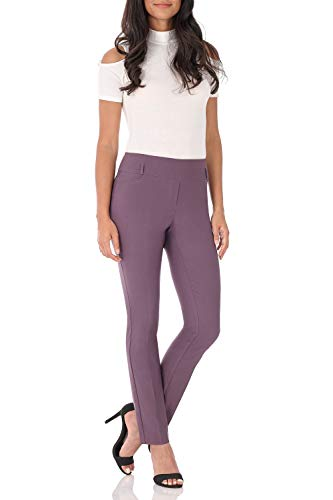 Ladies Slim Belt - Rekucci Women's Ease in to Comfort Fit Stretch Slim Pant (4,Mauve)