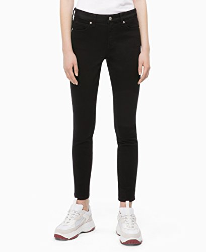 (Calvin Klein womens CKJ 001 Mid Rise Super Skinny Fit Jean, eternal black, 27X30)