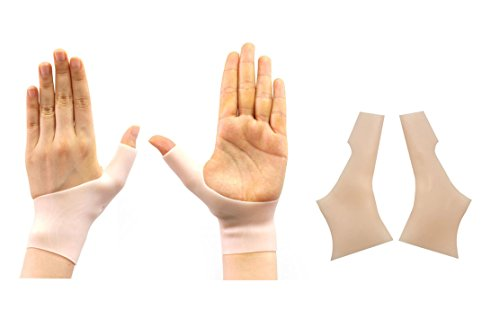 1 Pair Silicone Gel Compression Thumb Hand Wrist Support Braces for Right left Hand Women & Men