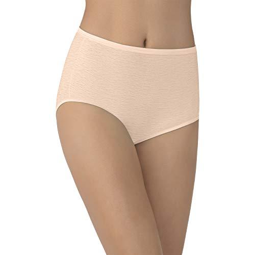 (Vanity Fair Women's Plus Size Underwear Illumination Brief Panty 13109, Rose Beige, 3X-Large/10)