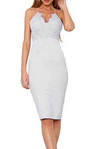 Allimy-Women-Sexy-Halter-V-Neck-Bodycon-Midi-Dresses-Party-Wedding-Cocktail-Dress-White-Large