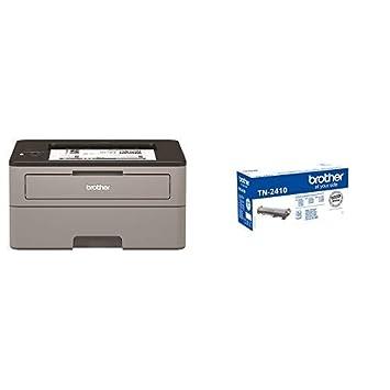 Brother HLL2350DW - Impresora láser monocromo con Wifi y dúplex + Brother TN-2410 Laser cartridge 1200 páginas Negro tóner y cartucho láser