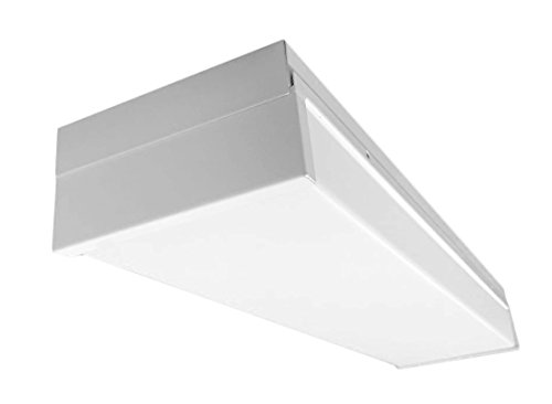 NICOR Lighting 24-Inch Dimmable 3116-Lumen 3000K LED Wraparound Light, White (WPR-20-UNV-3K-WH) by NICOR Lighting