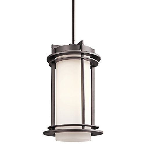 Kichler 49348AZ One Light Outdoor Pendant (Outdoor Pendant Light Modern)