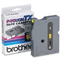 Genuine Brother 1/2 (12mm) Black on Yellow TX P-touch Tape for Brother XL-35, XL35 Label Maker