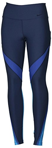 Nike Women's Dri-Fit Power Legend Training Tights-Navy Blue-Medium