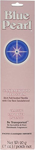 Blue Pearl Classic Fragrance Incense, Sandalwood Blossom, 20 Gram