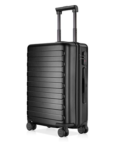 [Upgraded] NinetyGo Carry on Luggage with Convenient Brake System, Lightweight Hardshell Suitcase with Wheels and TSA…