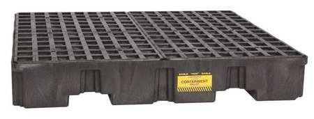 Eagle-1645BND-Black-4-Drum-Low-Profile-Containment-Pallet-without-Drain