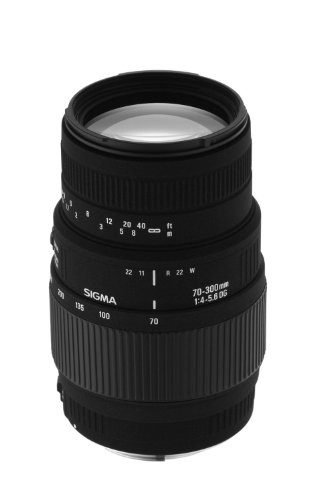 Sigma 70-300mm f/4-5.6 DG Macro Telephoto Zoom Lens for Minolta and Sony SLR Cameras - International Version (No Warranty) by Sigma