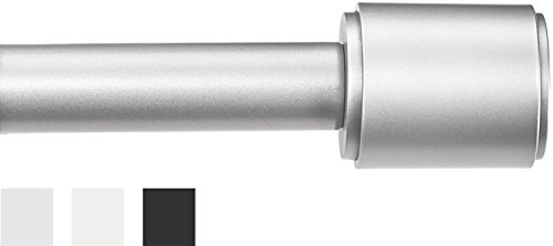 AmazonBasics Curtain Rod with Cap Finials