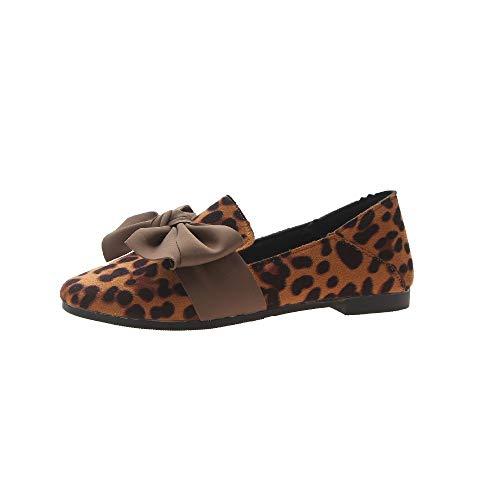 Leopardo Delicati Scarpe Fiocchi Selvagge Piselli Donna Scarpette Profondo 2 Da Mocassini wAqBZO4Zx