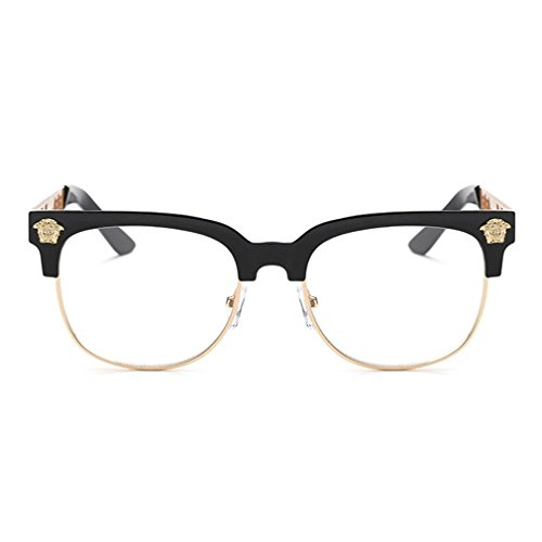 LOMOL Europe and America Fashion Retro Personality Wayfarer Frame Eyewear Glass(C7) (Where Can I Buy Cat Eye Contacts)
