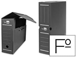 Liderpapel Caja Archivo Definitivo Plástico Gris Tamaño 36X26X10 Cm