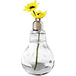 Geometric Terrarium - Hanging Transparent Bulb Shaped Bottle Vase Green Air Plant Terrarium Succulent Planter Conteneur - Rock Opening Glass Jungle Gravel Enclosure Ature Rose Lids Adults Isopo