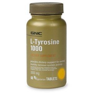 GNC L-Tyrosine 1000, 60 comprimés végétariens ch