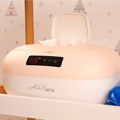 31ge097VieL - Avec Maman - La Caresse, Baby Wipe Warmer - Designed In France | Wet Wipe Dispenser - Adjustable Heat Settings, Digital Display 2020]