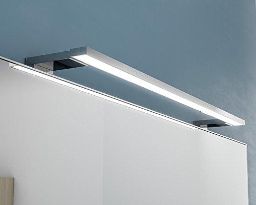 LED Badleuchte 12W, chrom warmweiss / neutralweiss flacher Aufbau (neutralweiss)