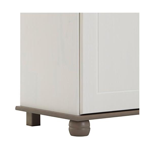 IDIMEX Buffet Colmar Commode bahut vaisselier Meuble Bas Rangement avec 2 tiroirs et 2 Portes battantes, en pin Massif…
