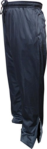SPECIEN Adult Performance Sweatpants - Zippers Pockets & Zippers Legs Ends (2X-Large Plus Size On Waist, Charcoal) (Leg Zipper)