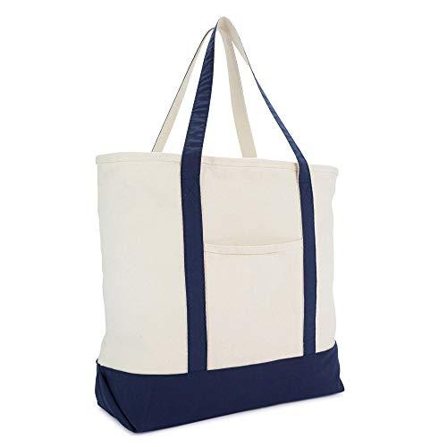 Personalize Zipper Tote Bag - DALIX 22