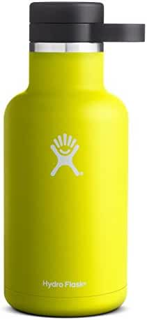 Hydro Flask 32 oz Double Wall Vacuum Insulated Stainless Steel Beer Growler, Citron
