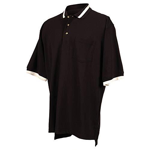 Tri-Mountain 179 Men's Teammate Stylish Golf Shirt Black/Ivory 3XL