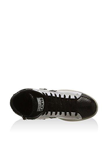 146406C CONVERSE óptica whit pro LTHR lp postal mediados zapatos de niña Blanco / Negro