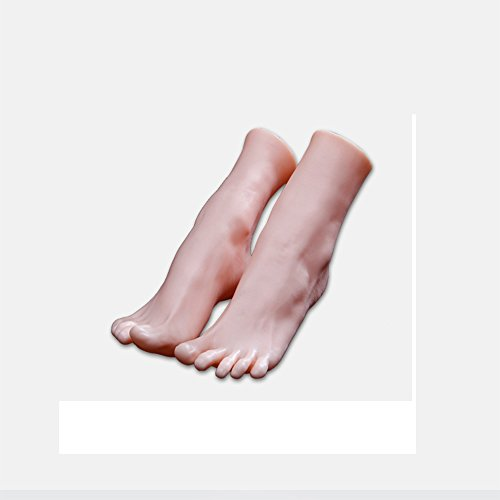 1 Pair Silicone Lifesize Female Mannequin Foot Display Jewerly Sandal Shoe Sock Display Art Sketch by MS WGO