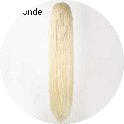 Black Wig 100CM/40 Inches Synthetic Heat Resistant Fiber Long Halloween Carnival Costume Cos-play Straight Women Hair,Blonde,38inches -
