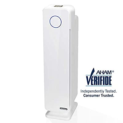 GermGuardian AC5350W 28-inch 4-in-1 True HEPA Filter Air Purifier for Homes, Large Rooms, Allergies, Smoke, Dust, Dander, Pollen & Odors |UV-C Light Kills Germs | 5-Yr Warranty | Germ Guardian | White by Guardian Technologies, LLC
