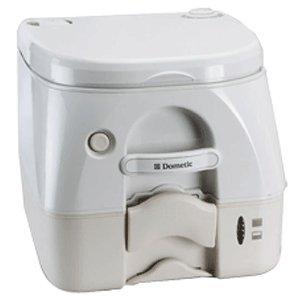 Dometic - 974MSD Portable Toilet 2.6 Gallon - Tan w/Brackets (974msd Portable Toilet)