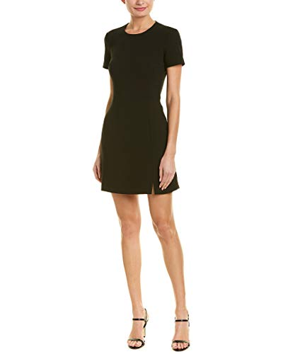 French Connection Women's Whisper Light Stretch Solid Mini Dress, Black Ruth, 4