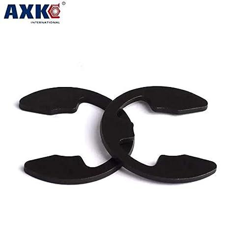 Ochoos 100pcs M3.5 Nickel Plated Carbon Steel Black DIN6799 Retaining Ring for 3.5mm E-Ring E Clip Snap Ring Shaft Circlip Inner Diameter: Black