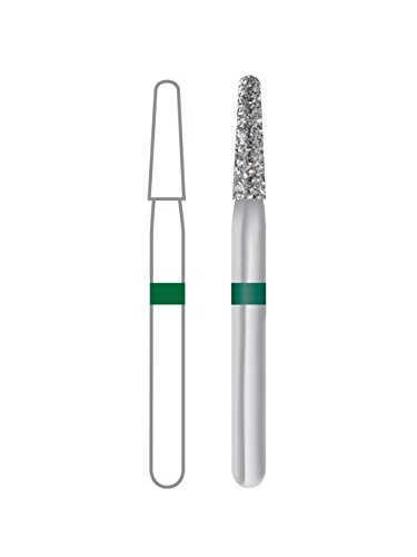 Dentsply 471195 Midwest Multi-Use Diamond Bur, Taper Round End, Coarse, Friction Grip/Short Shank, 1.6 mm Diameter, 6 mm Length (Pack of 5)