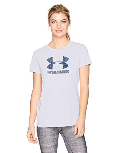 Under Armour Womens Threadborne sportstyle Crew - twist, Lavender Ice /Metallic Silver, ()