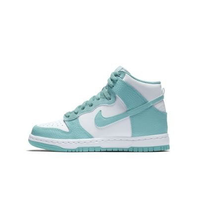 Image of NIKE Youth Dunk High (GS) Shoes Island Green (4)